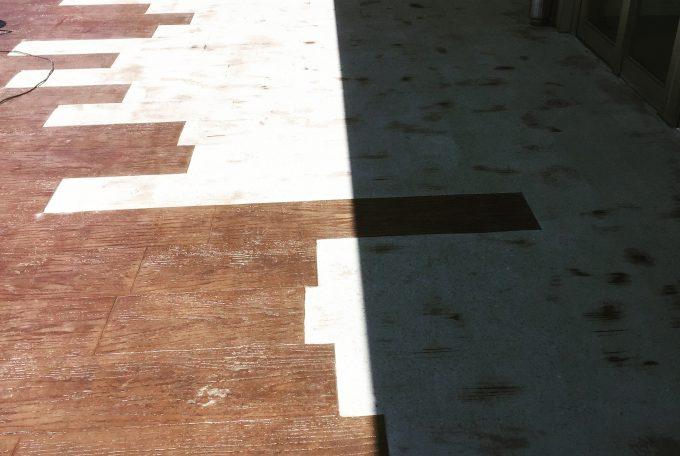 デザインクリート補修工事(下地処理)
